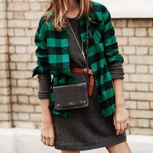 MADEWELL Walkway Sweater Dress Olive Green {EE21}